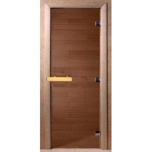 Дверь банное DW (1900*600 кор). Кедр, БРОНЗА МАТОВОЕ, (00020)