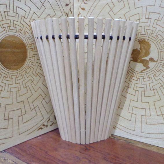 Абажур Абаши светлый Факел (h-40см), универсальный угловой/прямой
